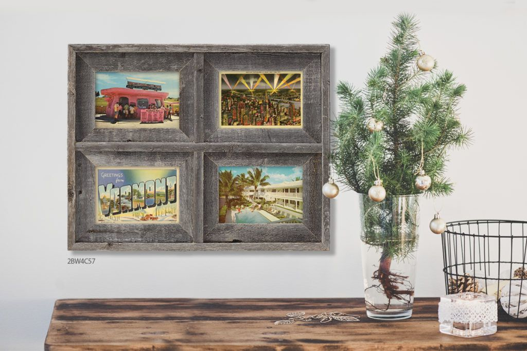 vintage postcards in driftwood collage picture frame gift